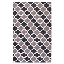 Lida Moroccan Trellis 8x10 Area Rug in Charcoal and Black