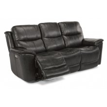 Cade Leather Power Reclining Sofa with Power Headrests