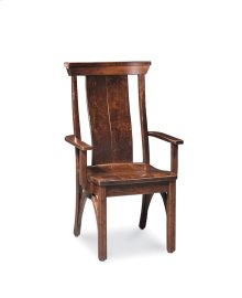 B&O Railroade Trestle Bridge Arm Chair, Wood Seat, Character Cherry Olde World #35-B2