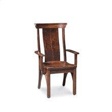 B&O Railroade Trestle Bridge Arm Chair, Fabric Cushion Seat