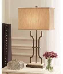 Timber and Tanning Metal Table Lamp (1/CN)