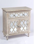 1 Drawer 2 Door Accent Chest-weathered Wood Finish W/mirror Accent Su Product Image