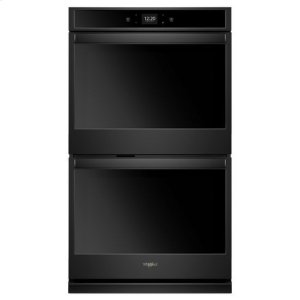 Whirlpool® 10.0 cu. ft. Smart Double Wall Oven with Touchscreen - Black - BLACK