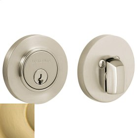 Satin Brass Contemporary Deadbolt