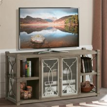 Dara Two - Entertainment Center - Gray Wash Finish
