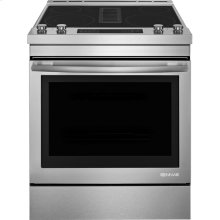 """30"""" Electric Downdraft Range, Euro-Style Stainless Handle"""