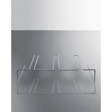 Stainless Steel Shelf Lets You Hang Martini Glasses & Other Stemware Inside the Scr2466