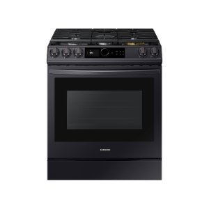 Samsung Appliances6.0 cu. ft Front Control Slide-in Gas Range with Smart Dial, Air Fry & Wi-Fi in Black Stainless Steel