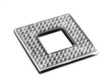 "Diamond Square Knob Width 2 3/8""x Height 2 3/8""Polished Chrome"