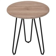 Tario Accent Table in Natural and Black