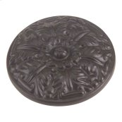 Hammered Medallion Knob 1 1/2 Inch - Aged Bronze