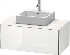 Vanity Unit For Console Wall-mounted, White High Gloss Lacquer