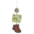 Hiking Dangle Ornament. Product Image