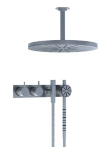 One-handle build-in mixer with ceramic disc technology with diverter - Grey
