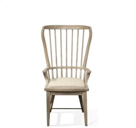 Juniper Windsor Upholstered Hostess Chair Natural finish