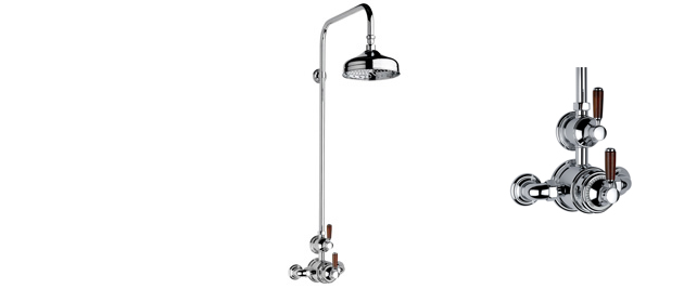"Polished Nickel Fairfield Exposed 3/4"" Thermostatic Shower Set"