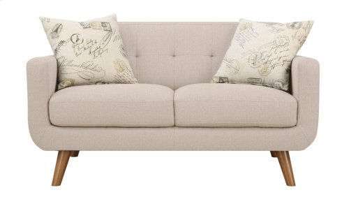 Loveseat Beige W/2 Accent Pillows