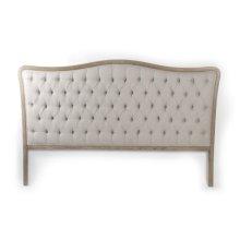 Maison Tufted Headboard (King, Natural Linen)