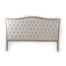Maison Tufted Headboard (King, Natural Linen)