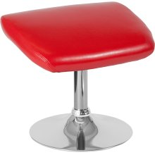 Egg Series Red Leather Ottoman