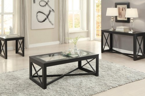 Sofa Table with Glass Insert