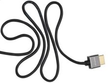 Black 6.6' Super Slim HDMI Cable; Short connector and flexible design