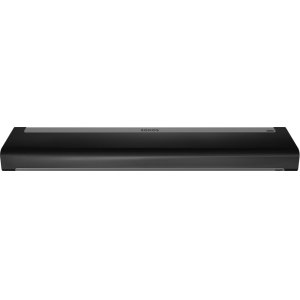 White- A soundbar, subwoofer, and two smart speakers for vivid surround sound.