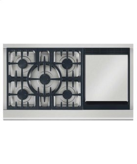 """48"""" Professional Gas Cooktop W/griddle"""