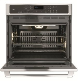 "30"" GE Cafe Electric Self-Cleaning Convection Single Wall Oven"
