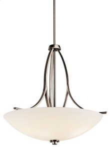 Granby 3 Light Inverted Pendant Brushed Pewter