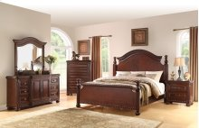 "Antoinette Queen Bed Footboard w/4 Slats, 67""x5.5""x34"""
