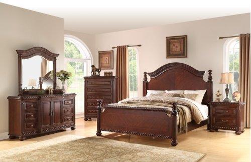 """Antoinette Queen Bed Footboard w/4 Slats, 67""""x5.5""""x34"""""""