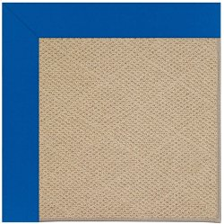 Creative Concepts-Cane Wicker Canvas Pacific Blue Machine Tufted Rugs