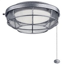 Industrial Mesh LED Outdoor Light Kit Weathered Steel