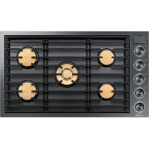 "Dacor36"" Gas Cooktop, Graphite Stainless Steel, Natural Gas"