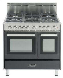 """Matte Black 36"""" Gas Range with Double Oven"""