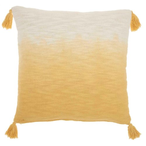 "Life Styles Aq130 Mustard 22"" X 22"" Throw Pillow"