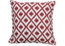 large: Raspberry Ikat cushion Product Image