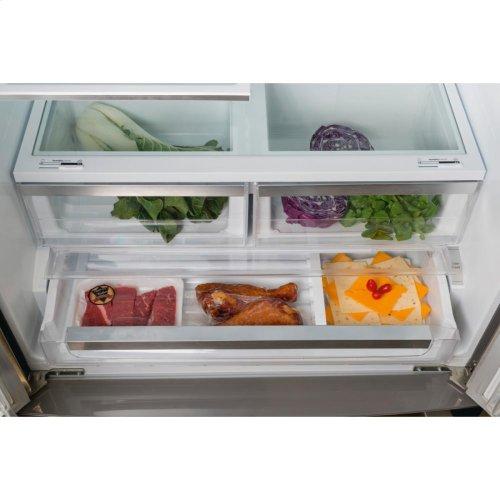 "36"" Counter Depth French Door Bottom Freezer 800 Series - Stainless Steel (Scratch & Dent)"
