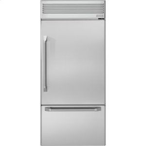 "GEMONOGRAMMonogram 36"" Professional Built-In Bottom-Freezer Refrigerator"