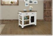 1 Drawer, 1 Mesh Door Kitchen Island - White finish Product Image