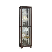 Sable Etched Glass Side Entry Display Cabinet