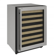 "2000 Series 24"" Wine Captain® model With Stainless Frame (lock) Finish and Right-hand Hinged Door Swing (115 Volts / 60 Hz)"