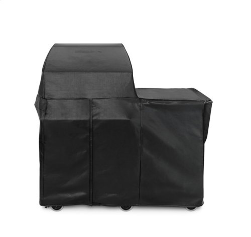 "30"" Grill or Smoker Carbon Fiber Vinly Cover (Mobile Kitchen Cart)"