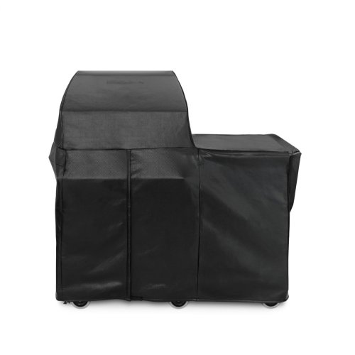"""30"""" Grill or Smoker Carbon Fiber Vinly Cover (Mobile Kitchen Cart)"""