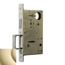 Lifetime Polished Brass 8602 Pocket Door Lock with Pull