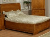 Phillipe Double Sleigh Bed, Boat Rails&Footboard
