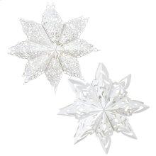 Snowflake Hanging Pendant (2 asstd).