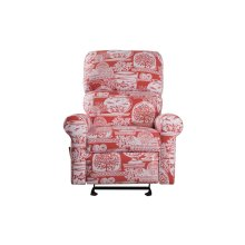 Swivel Recliner Glider, Fully Upholstered Arms.