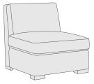 Germain Armless Chair in Mocha (751) Product Image